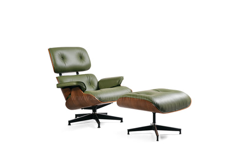 Mid-Century Plywood Lounge Chair and Ottoman - Olive/Walnut, TALL Version (SOLD OUT! Pre-order now, ships: 1/15/21)