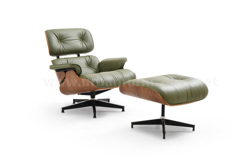 Mid-Century Plywood Lounge Chair and Ottoman - Olive/Walnut (SOLD OUT! Pre-order now, ships: 11/17/20)