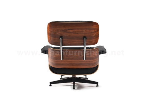 Mid-Century Plywood Lounge Chair and Ottoman - Ultra Premium Version, Black/Palisander (Back-in-stock: 9/15/20)