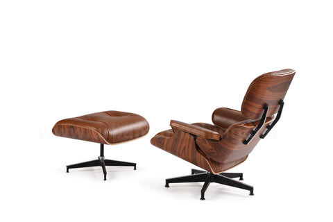 Mid-Century Plywood Lounge Chair and Ottoman - Antique Brown/Palisander, TALL Version (SOLD OUT! Pre-order now, ships: 10/20/20)