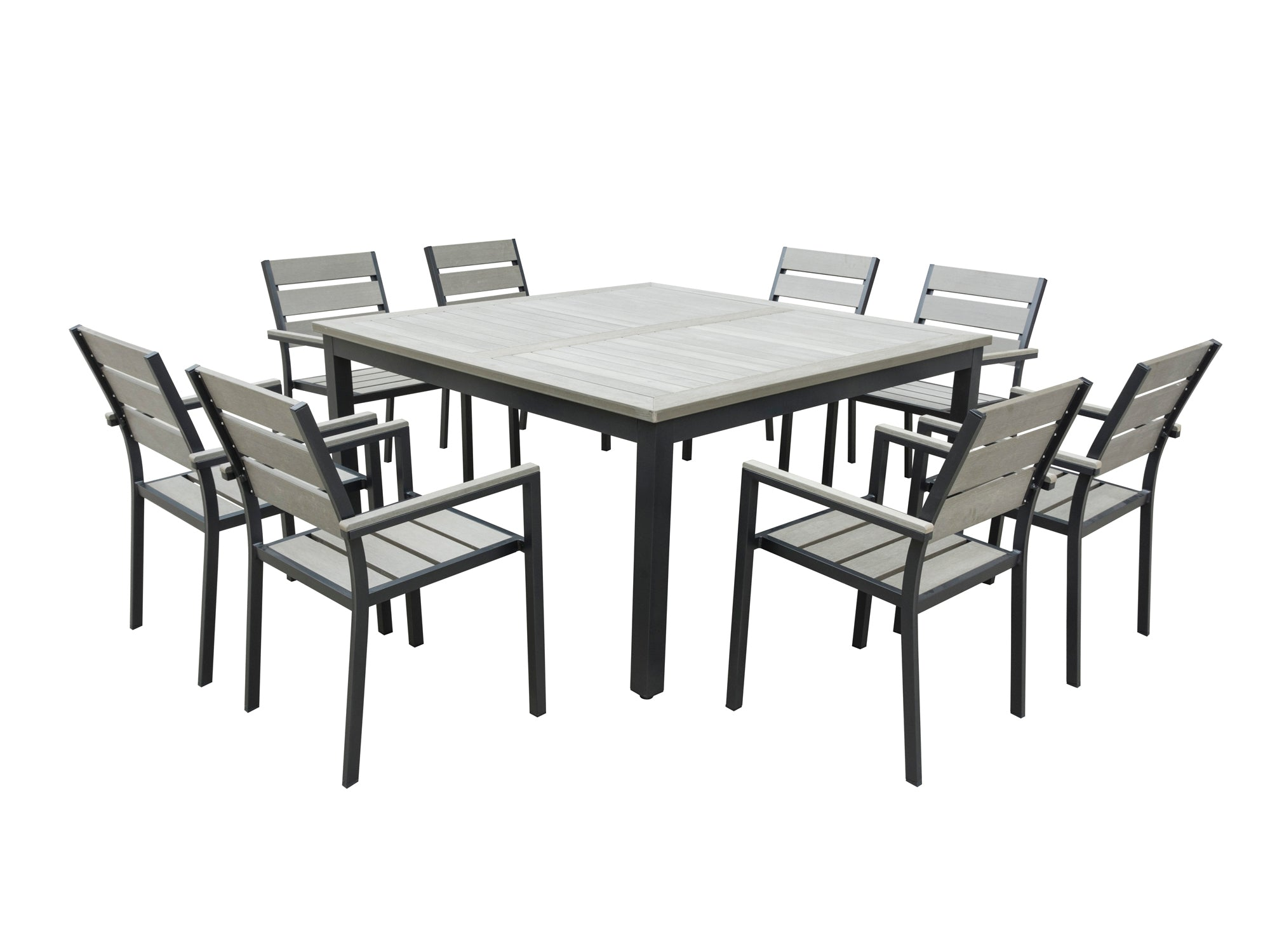 Brilliant 9 Piece Eco Wood Square Table Outdoor Patio Dining Set Cjindustries Chair Design For Home Cjindustriesco