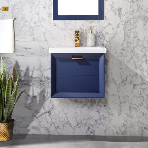 "Danbury 20"" Single Bathroom Vanity Set - Navy Blue"