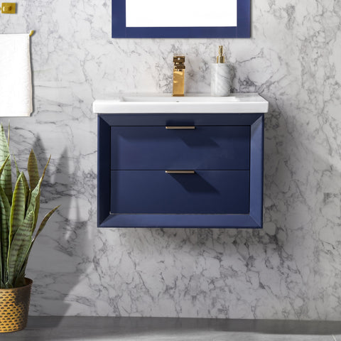 "Danbury 24"" Single Bathroom Vanity Set - Navy Blue"