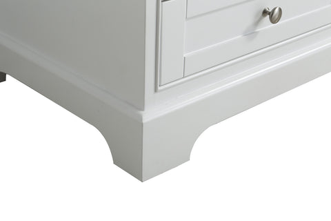 "Jocelyn 36"" Vanity Set with White Italian Carrara Marble Top - White"