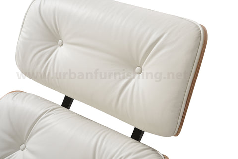 Mid-Century Plywood Lounge Chair and Ottoman - Ivory/Palisander (SOLD OUT! Pre-order now, ships: 5/1/21)