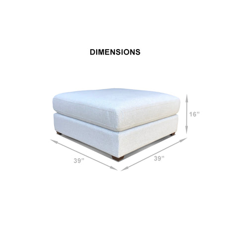 REED Collection: Ottoman, Add-On ***Back-Ordered. Available 1/2019***