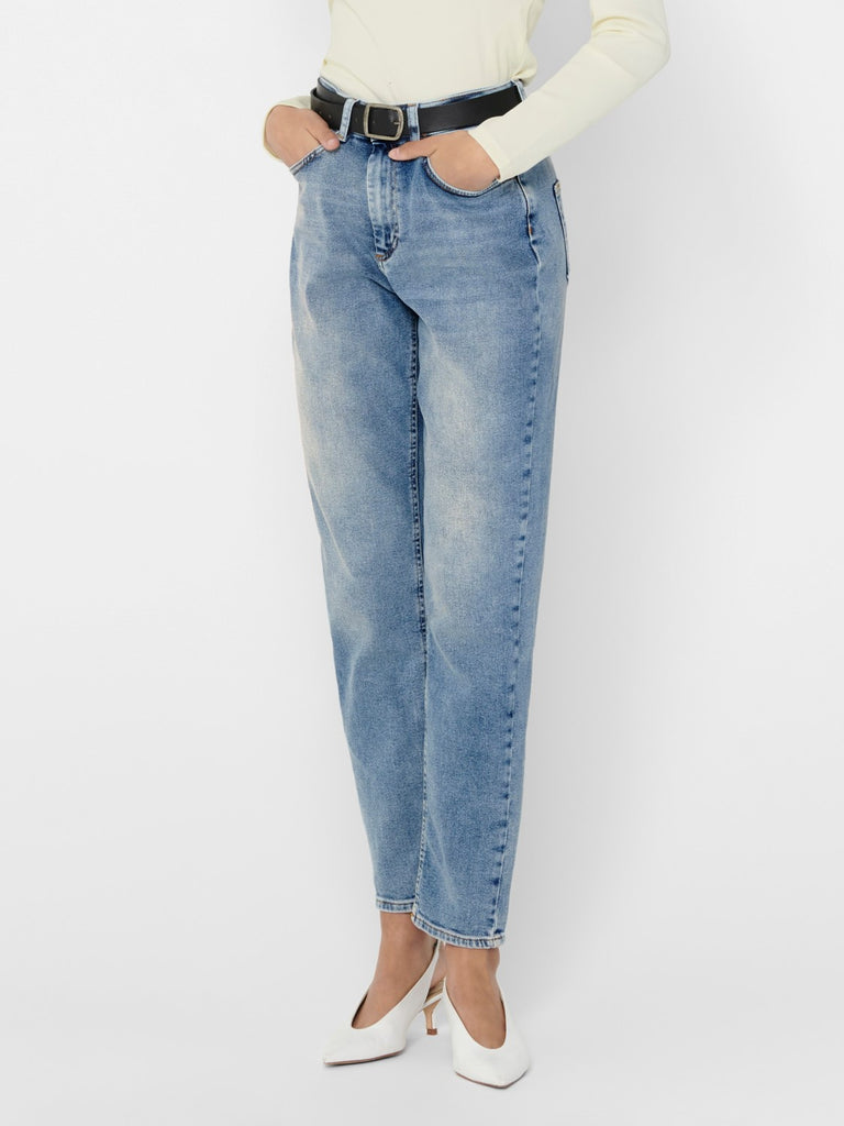 Only Veneda Mom Jeans Vaalea Denim, - ONLY