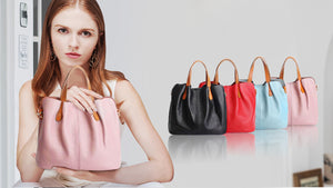 Super Soft Leather Tote Bag-- Free Shipping