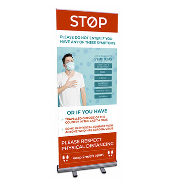 COVID-19 - Economy Roll Up Banner (33.5
