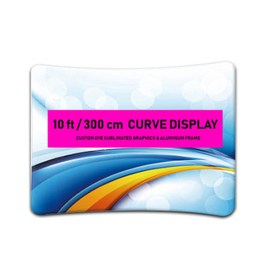 10 ft Curve Tension Fabric Display