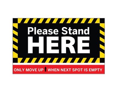 Copy of Rectangular Physical Distancing (Outdoor) Decal - 30