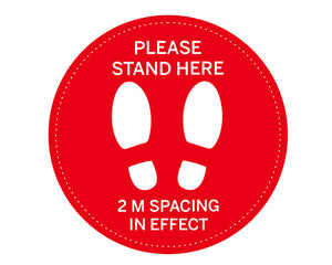 "24"" Physical Distancing Floor Sticker"