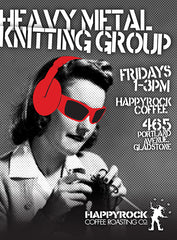Heavy Metal Knitting Group Gladstone Oregon Happyrock Coffee