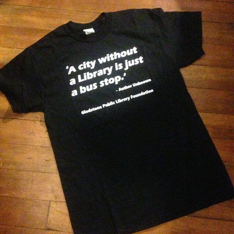 GPLF 'A City Without A Library Is Just A Bus Stop' Shirt