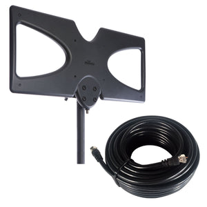 Attic / Outdoor 60 Mile HDTV Antenna (Open Box) With 50' Cable