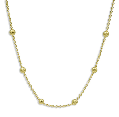 Necklace 'Lou', Kugeln, gold