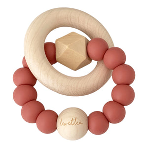 Hexa Baby Teether, Blush, 'Tender Blush' Collection