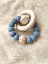 Load image into Gallery viewer, Hexa Baby Teether, Dusty Blue, Océane Collection