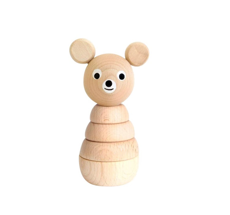 Wooden Stacking Toy - Bear