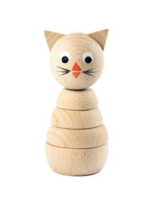 Wooden Stacking Toy - Cat