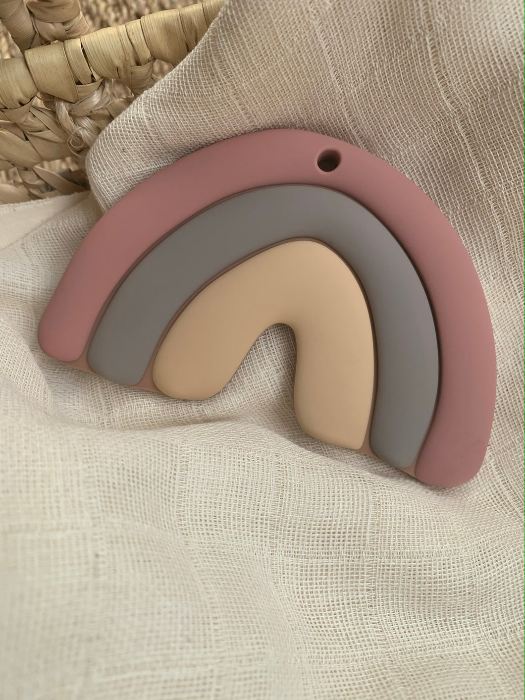 Teether 'Rainbow Hope', Mauve