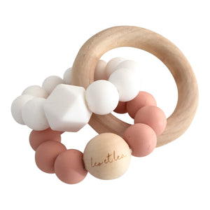 Duo Baby Teether, Dusty Rose