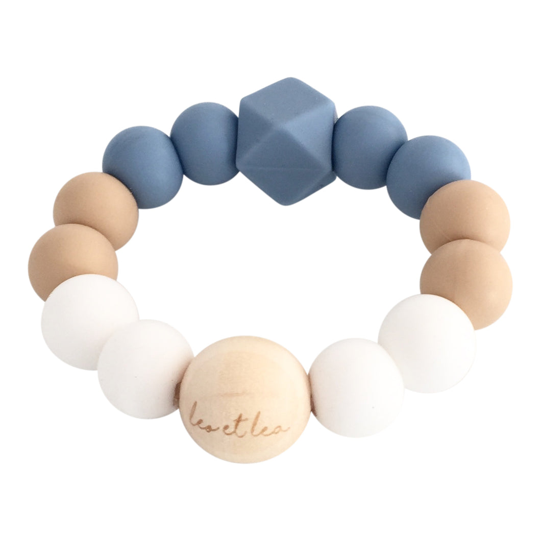 Ombre Baby Teether, Dusty Blue