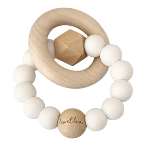 Hexa Baby Teether, White