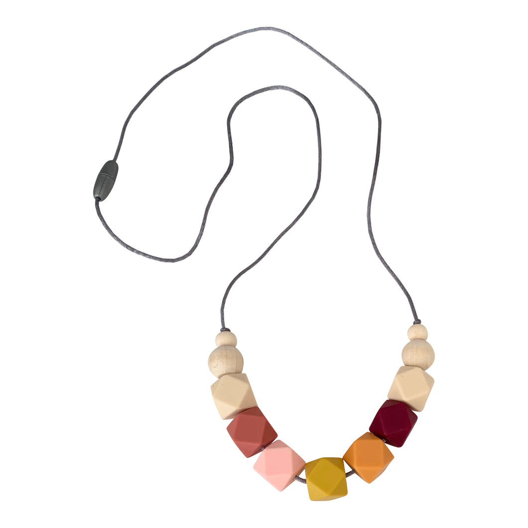 Nursing Necklace 'Appoline', Stillkette, Mango, Coral