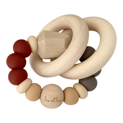 Chew Baby Teether, Prune, Wood