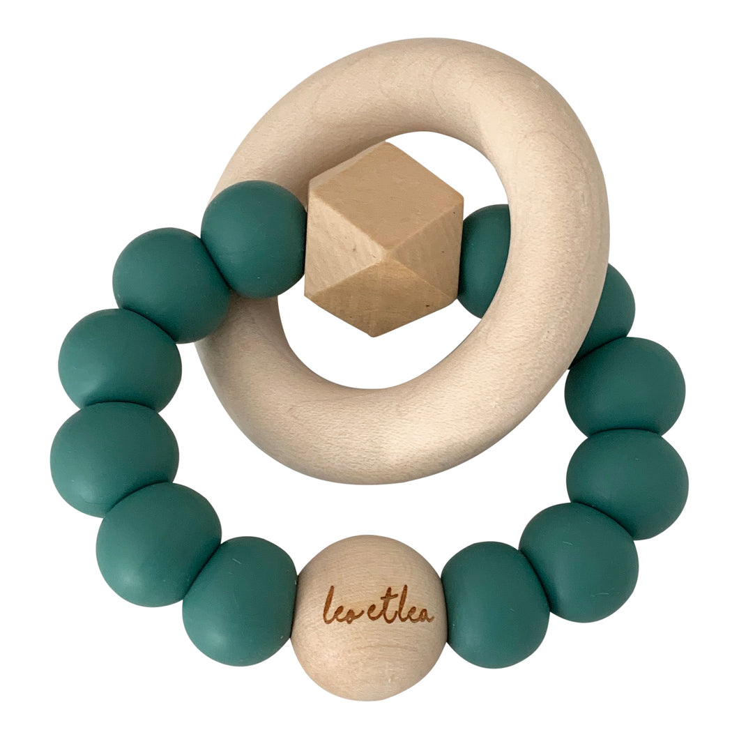 Hexa Baby Teether, Seafoam
