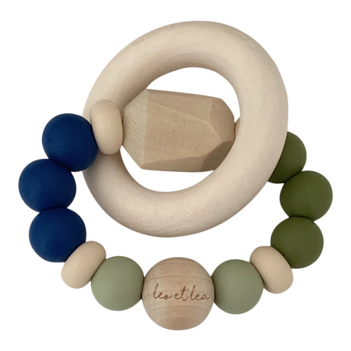 Chew Baby Teether, 1 Ring, Blue