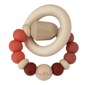 Chew Baby Teether, Coral, 1 Ring