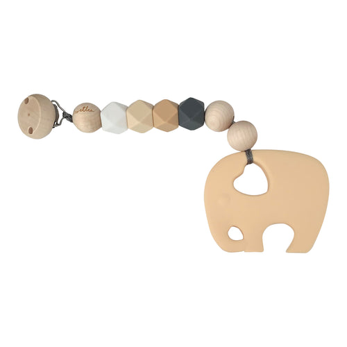 Teether Elephant, Beige