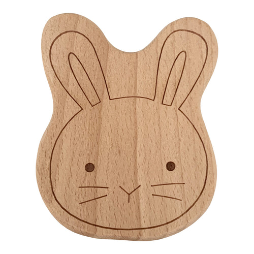 Teether, All Wood, Rabbit