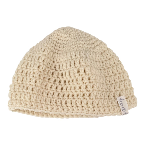 Bonnet, Wool, Ecru