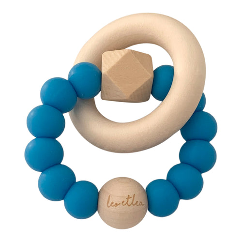 Hexa Baby Teether, Cobalt Blue