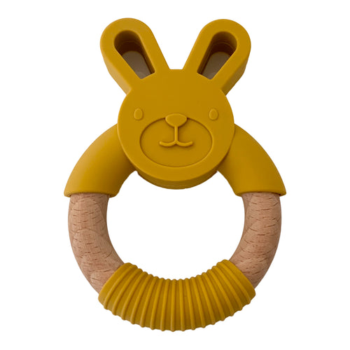 Rabbit Teether, Mustard