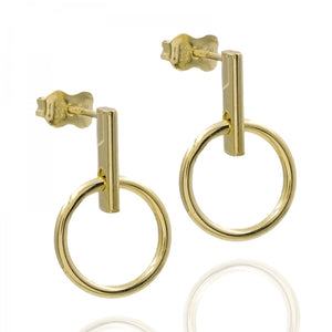 Earrings, Eleonore II, gold
