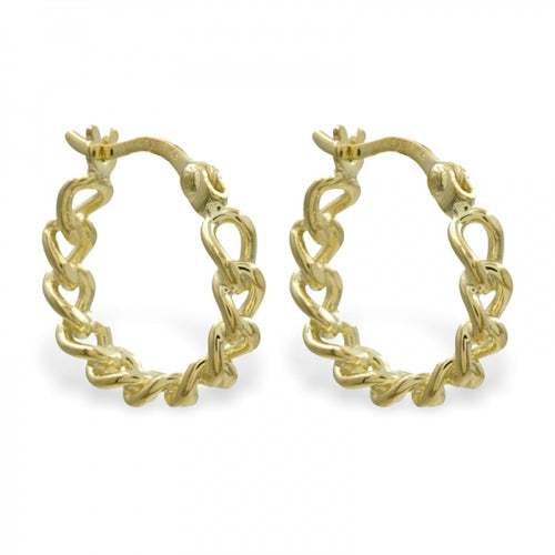 Hoops, Creolen, Chain, gold