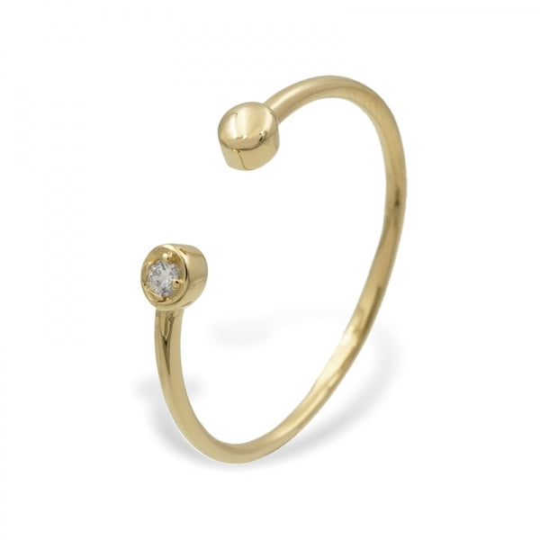 Ring 'Annie', Zirconia, gold