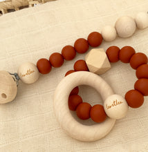 Load image into Gallery viewer, Hexa Baby Teether, Rust, Sunset Collection