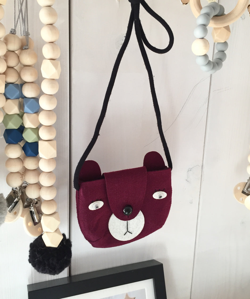 Kids Bag 'Bear', Bordeaux