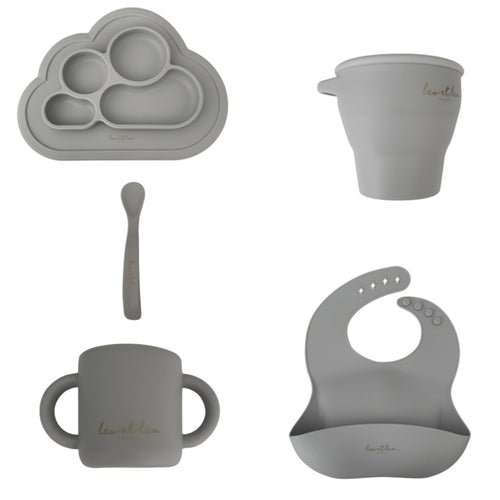 Set Tableware, Grey, L