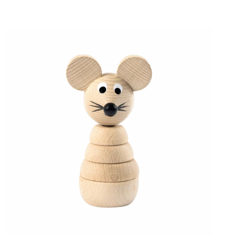 Wooden Stacking Toy - Mouse