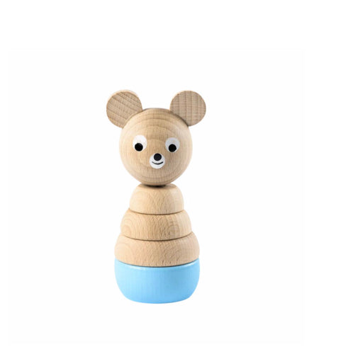 Wooden Stacking Toy - Bear, Blue