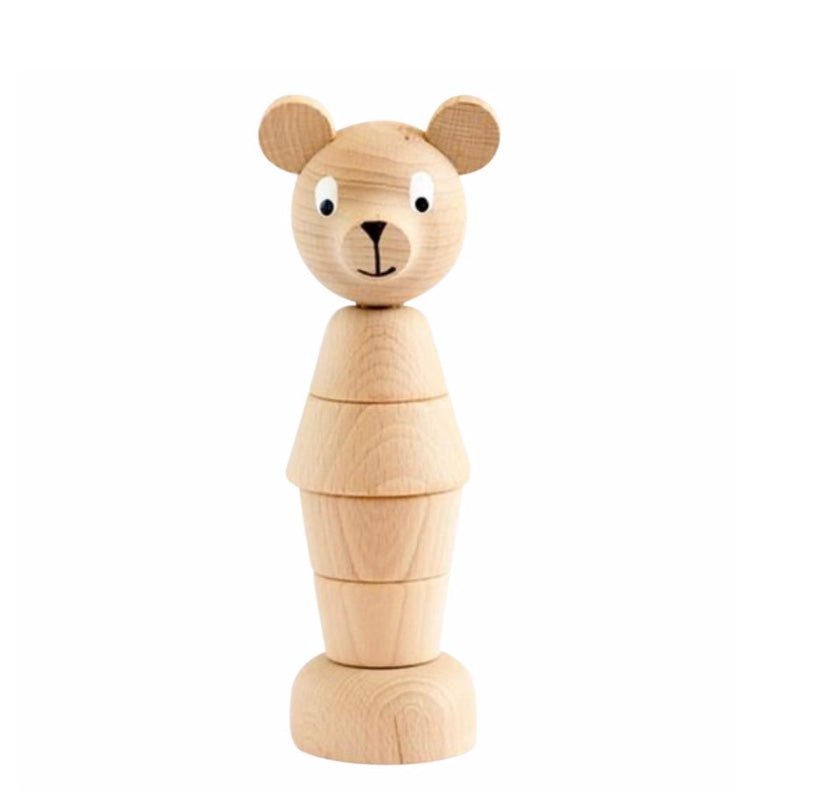 Wooden Stacking Toy - Bear Big