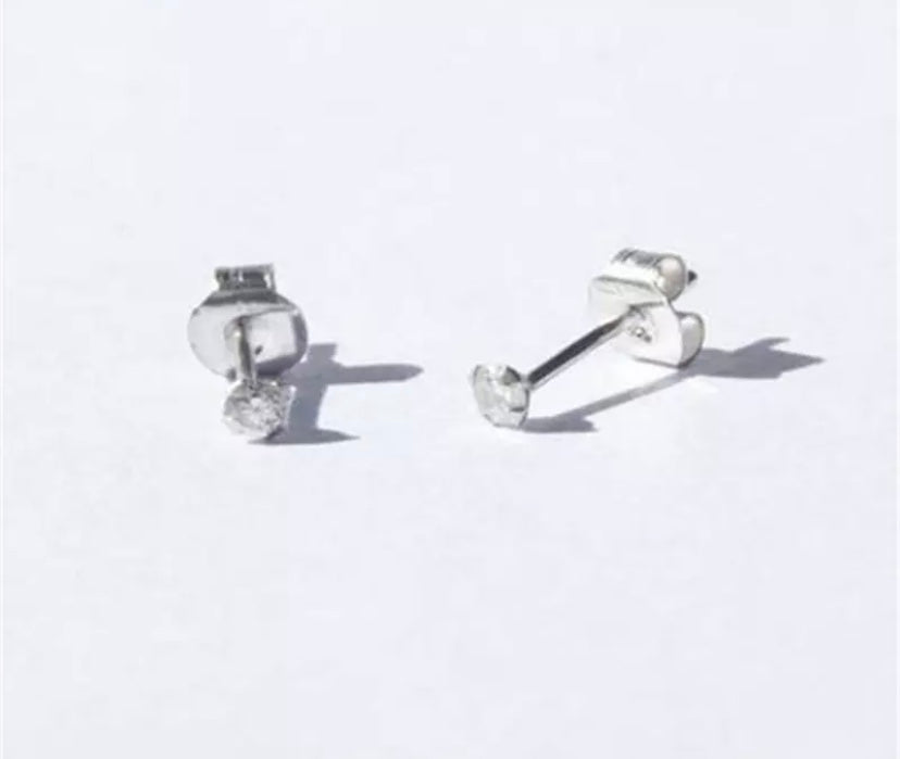 Earrings 'Lula', Silver, Zirconia