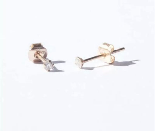 Earrings 'Lula', gold, Zirconia