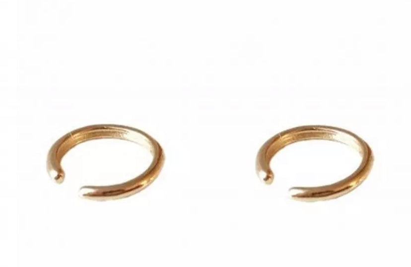 Basic Earcuff, gold plated, sterling silver